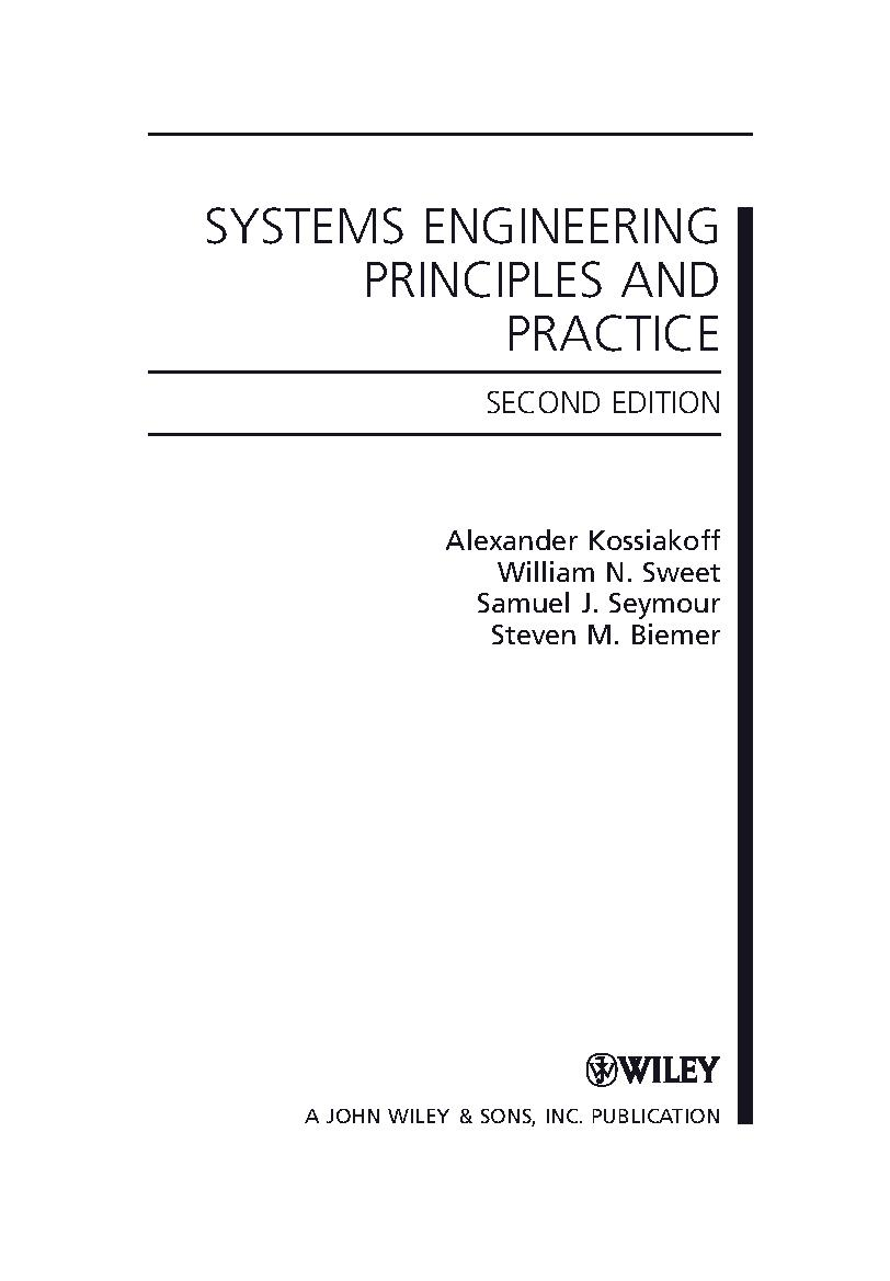 System Engineering principles and practice