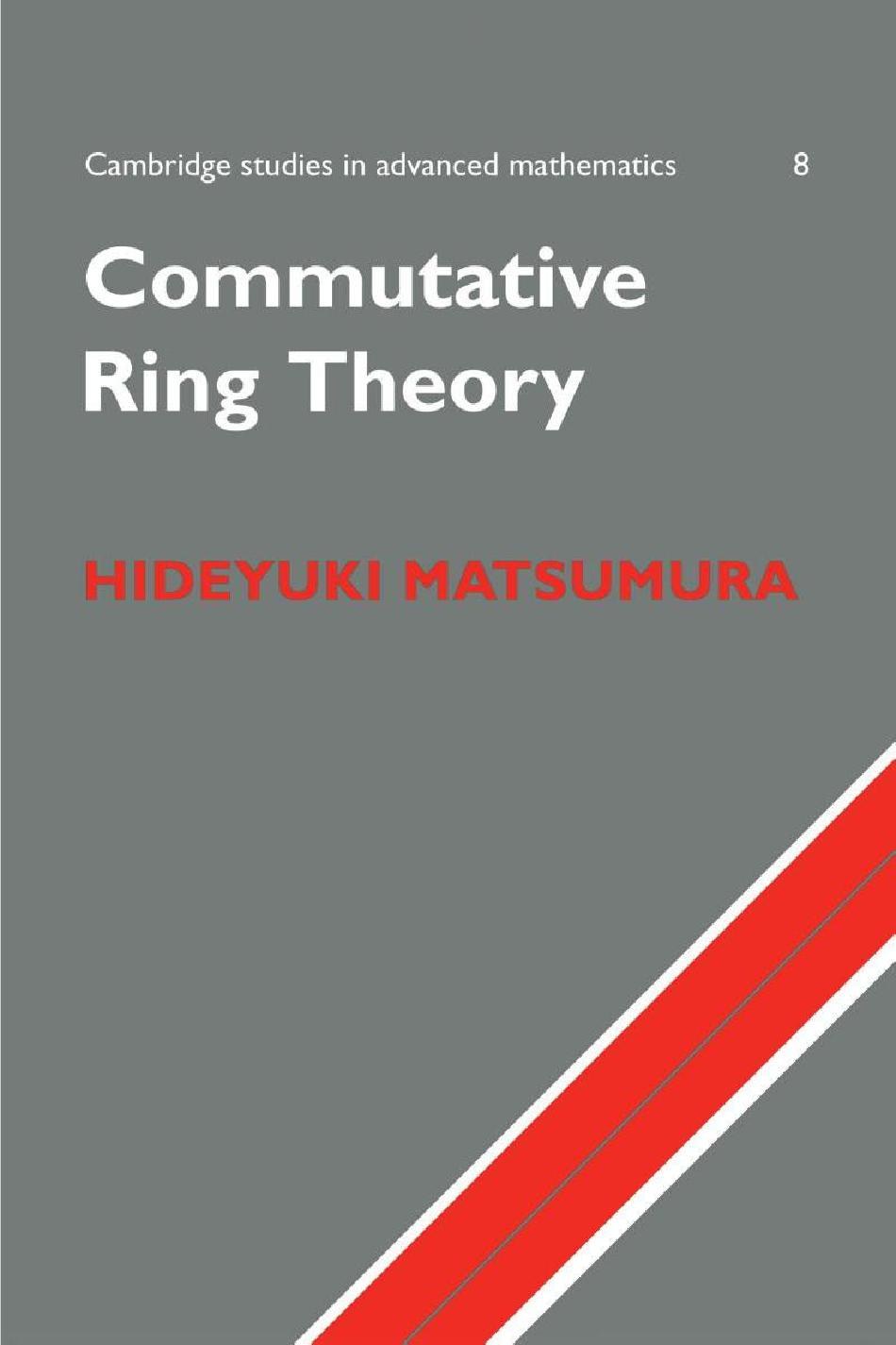 Commutative ring theroy