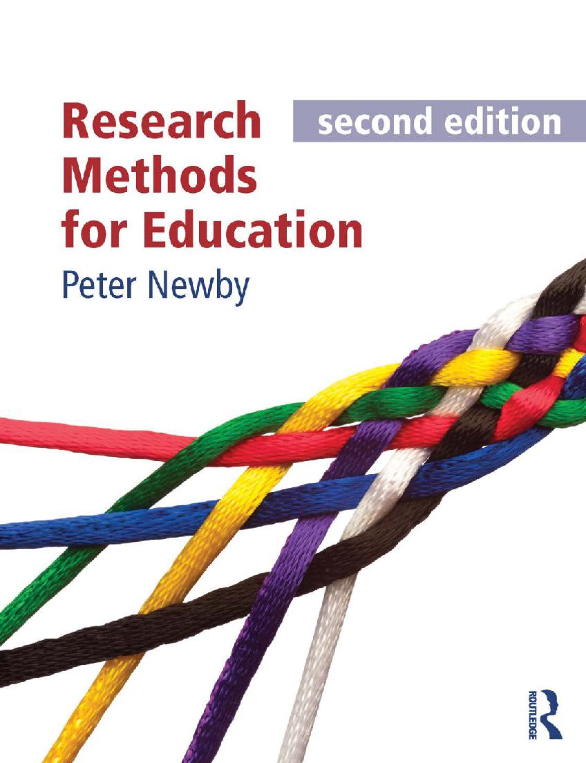 Research Methods for Education - Second edition